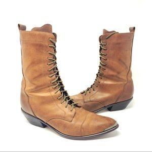Acme Rhianon Lace Up Brown Leather Boots 9 M